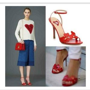 ❤Valentino Lamour Red Leather Sandals❤